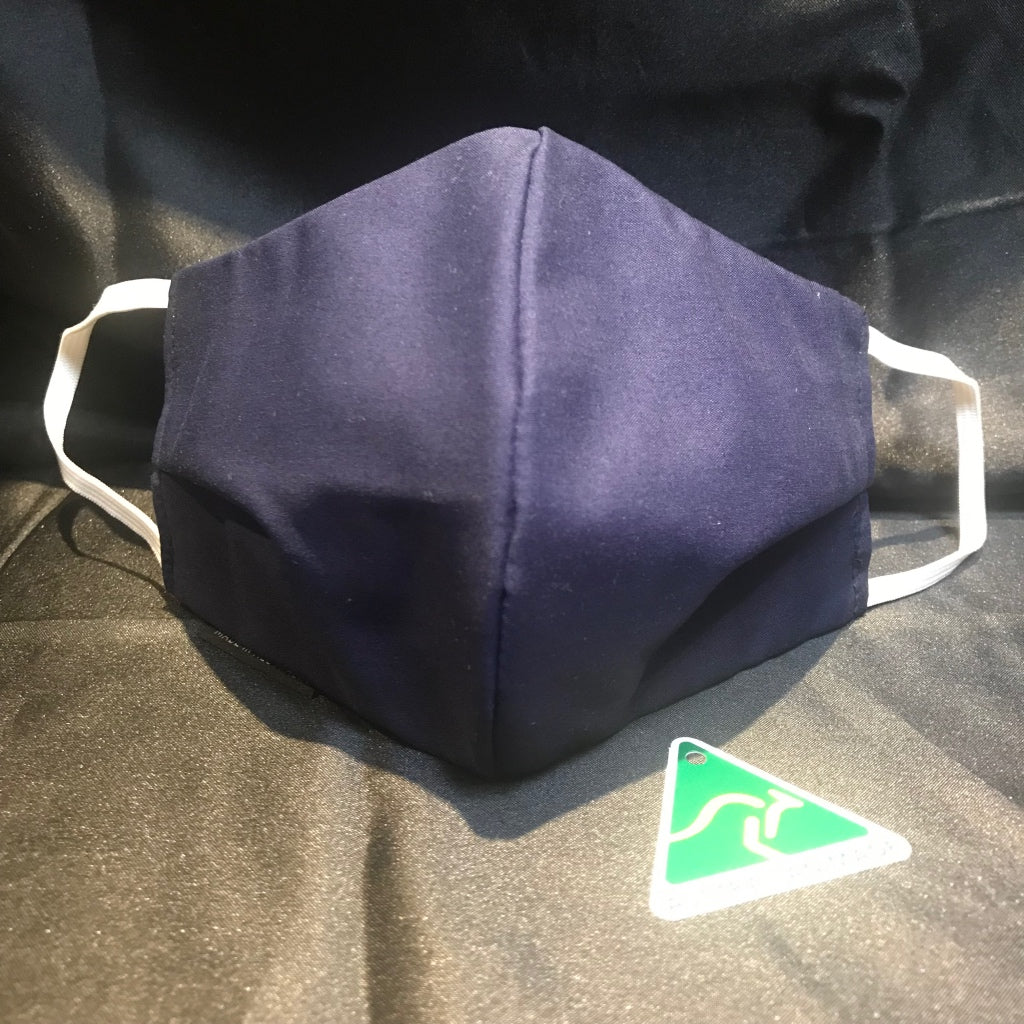 Reusable 3 Ply Cotton - NAVY - In Stock