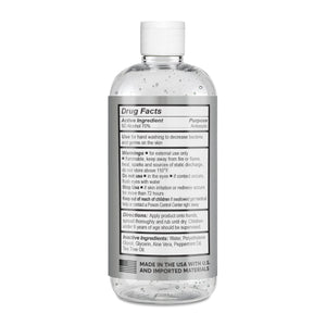 16 Ounce Bottle RXCleanse Hand Sanitizer Ingredients Label