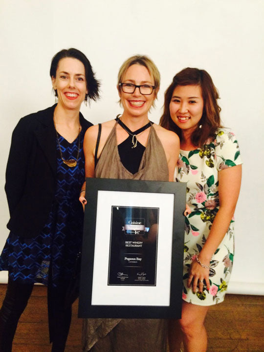 Teresa Pert, Belinda Donaldson and Bora Hong at the awards evening.