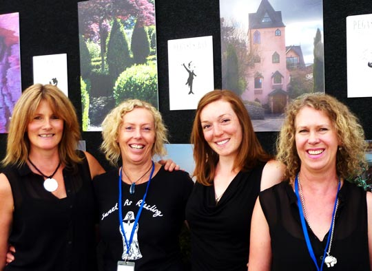 Pegasus Bay's trained tasting room staff, (from left) Heike, Penny, Jennifer & Sue