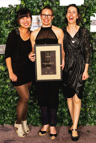 The winning Pegasus Bay Restaurant team at the Cuisine Good Food Awards. From left to right Bora Hong, Belinda Donaldson and Teresa Pert
