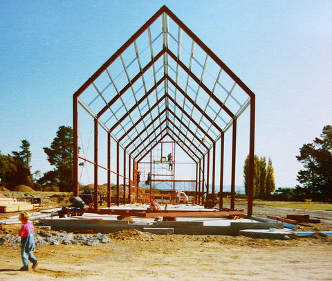 The first stage of the Pegasus Bay winery under construction - 1992
