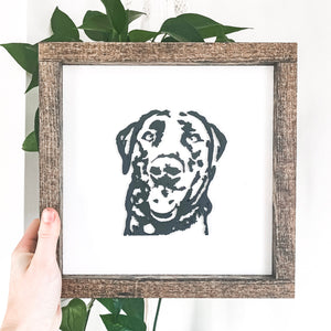 3D Pet Portrait Sign