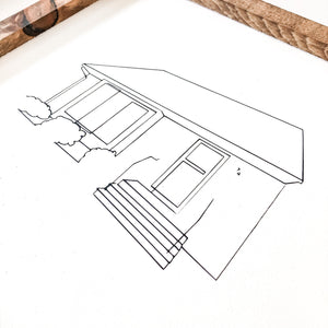 Custom Hand Drawn House Sign