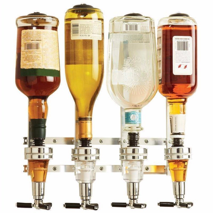 SBE 30ml Wall Mounted 4-station Liquor Dispenser(Multicolour)