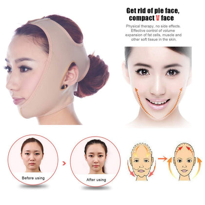 Sozzumi  Facial Thin Face Slimming Mask/Belt, Skin Care Chin Bandage, V-Line Lifting Cheek for Anti-Sagging Firming and Wrinkle Beauty Facemask