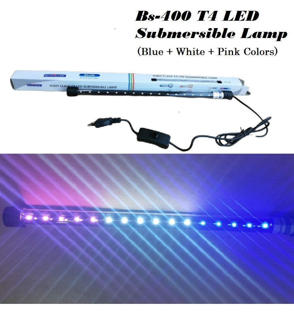 DESPACITO® High Class T4 Led Submersible Lamp Light for Aquarium Fish Tank Suitable for Fresh and Salt Water