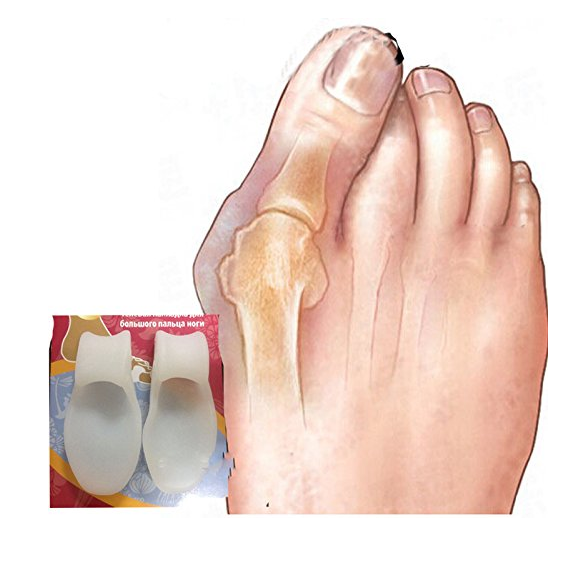 Sozzumi Silicone Gel Foot Fingers Orthopaedic Bunion Adjuster Guard Feet Care (1 Pair)
