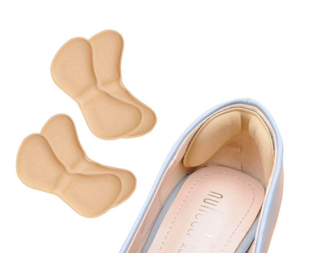 1 Pair Sticky Fabric Shoe Heel Inserts Insoles Pads Cushion Grip Protector SL