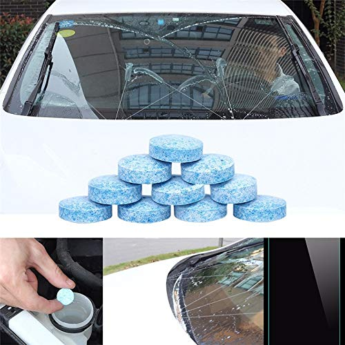 METRENO® Car Liplsating Windshield Glass Washer Cleaner Tablets for Car Windshield (5 Pcs)