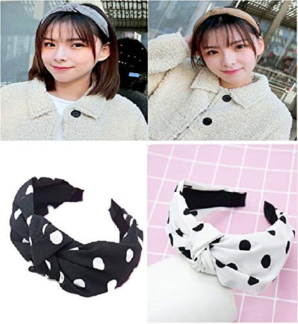 Chekido® New fashion Elastic Hairband for women comfortable fabric with cross Twisted Knotted Headband for Girls Headwear