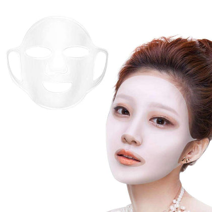 Nasmodo® Reusable Silicone Cover Hydrating Facial Mask and face mask for women,patches remover Sheet FaceWrap Prevent Evaporation