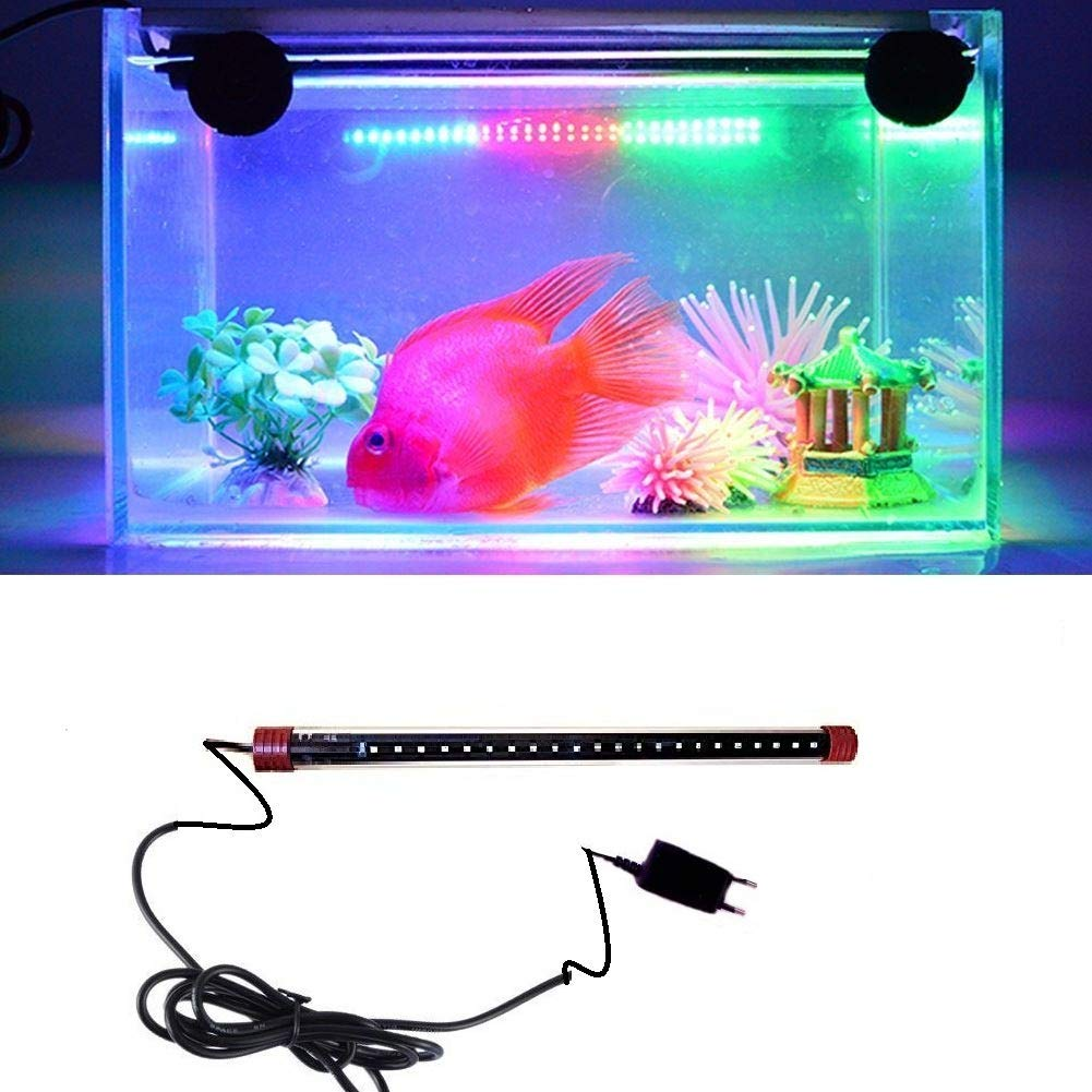 Aquarium LED light for fish tank, waterproof submersible light for fresh and salt water LED bar light lampRS- 400Le (Blue and White)