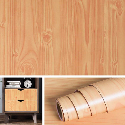 Nasmodo®Multipurpose Wooden Wall Paper for Furniture PVC Wallpapers for Walls and Kitchen,and Drawer,Living Room,Table. Contact Paper Grain Vinyl Paper