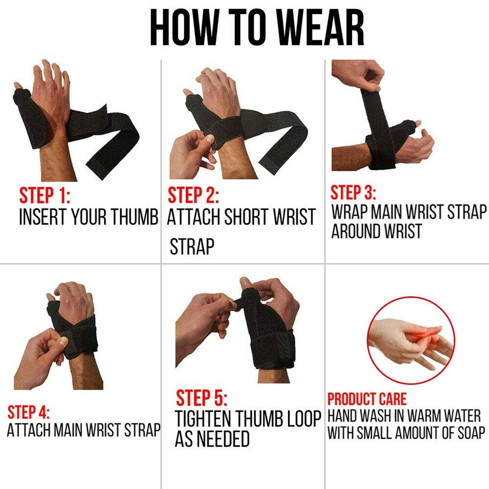 NUCARTURE® Adjustable Thumb wrist support for women pain relief Wrist splint brace protector and fracture supports right and left carpel tunnel(1-pc)