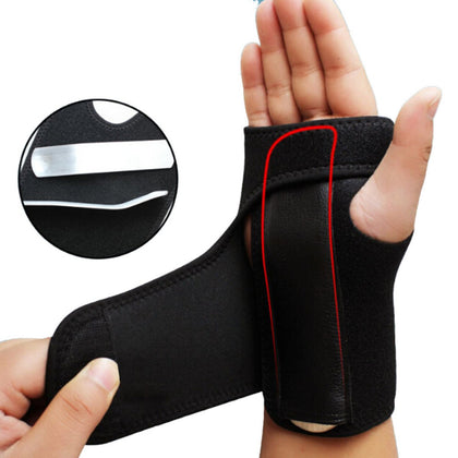 NUCARTURE® Adjustable carpel tunnel wrist support splint wrist thumb support for left hand for men and women brace protector and fracture supports hand belt for pain relief