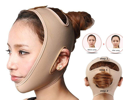 NUCARTURE® face slimming mask for double chin shaper for men And women V Line Facial Lift face lifting mask for woman face slimming mask for slim cheeks V Line Belt Strap Mask Bandage