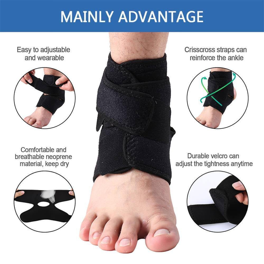 NUCARTURE® Ankle Support with Brace and Sleeve & Bandage Wrap For Foot Compression Brace Guard Brace for Arthritis, Pain Relief, Sprains, Sports Injuries