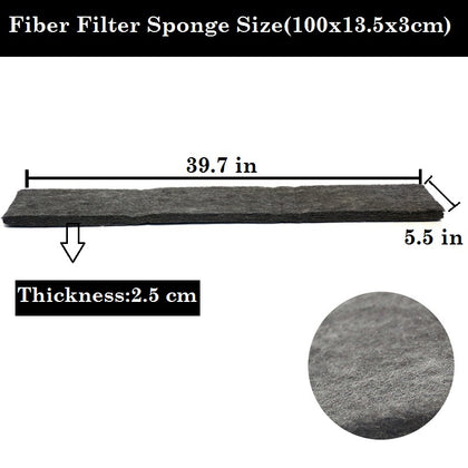 DESPACITO®  XY-1879 Thick Bamboo Charcoal Fiber Filter Sponge for Aquarium Fish Tank.