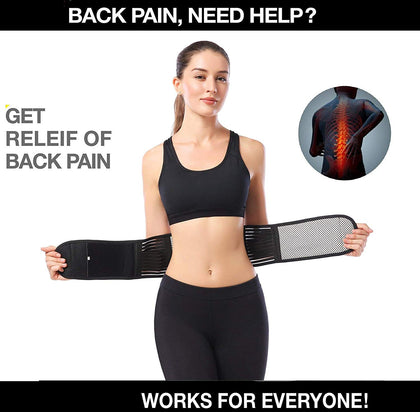 NUCARTURE® Magnetic back belt for back pain for men and Self-Heating Magnetic Therapy Back Waist Support Pain Relief Protection Massager lumbar hip support belt for low back pain for back Double Pull Strap Lower Pain(XL)