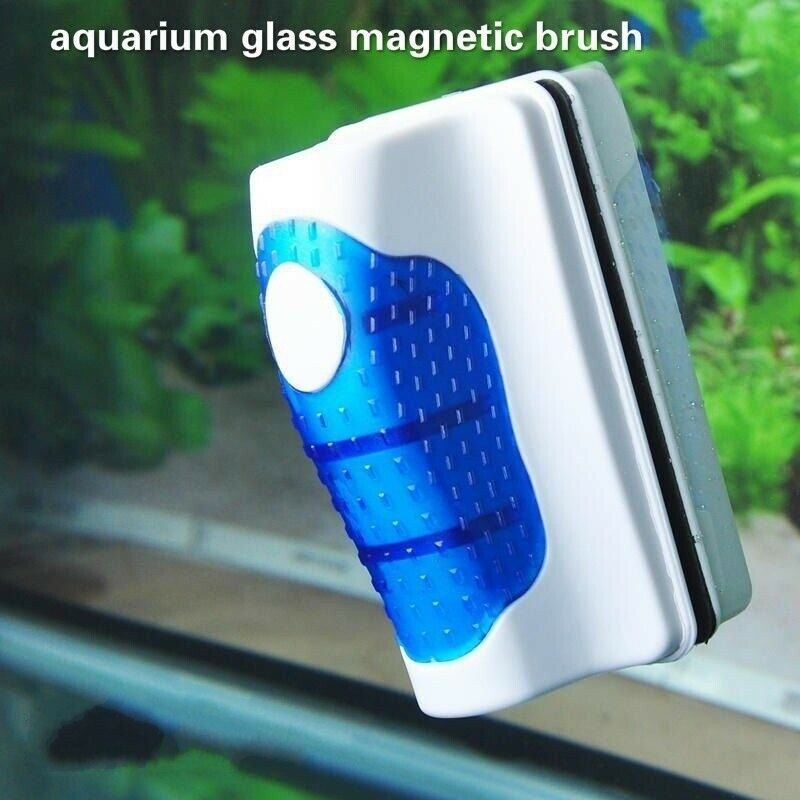 DESPACITO® Fish Tank Floating Magnetic Aquarium Glass Algae Scrubber Cleaner Brush Tool (RS-09)