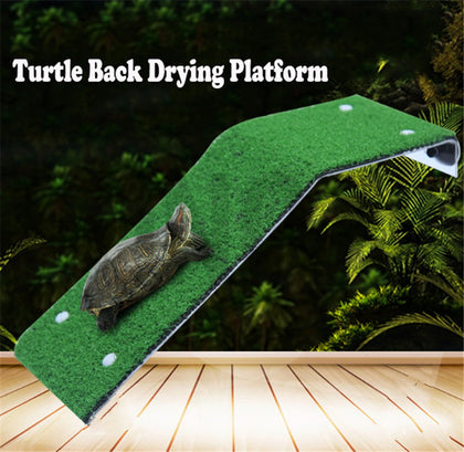 Despacito® Turtle Baskin Ladder Simulation Lawn Drying Rest Platform for Aquarium Decorate Fish Tank