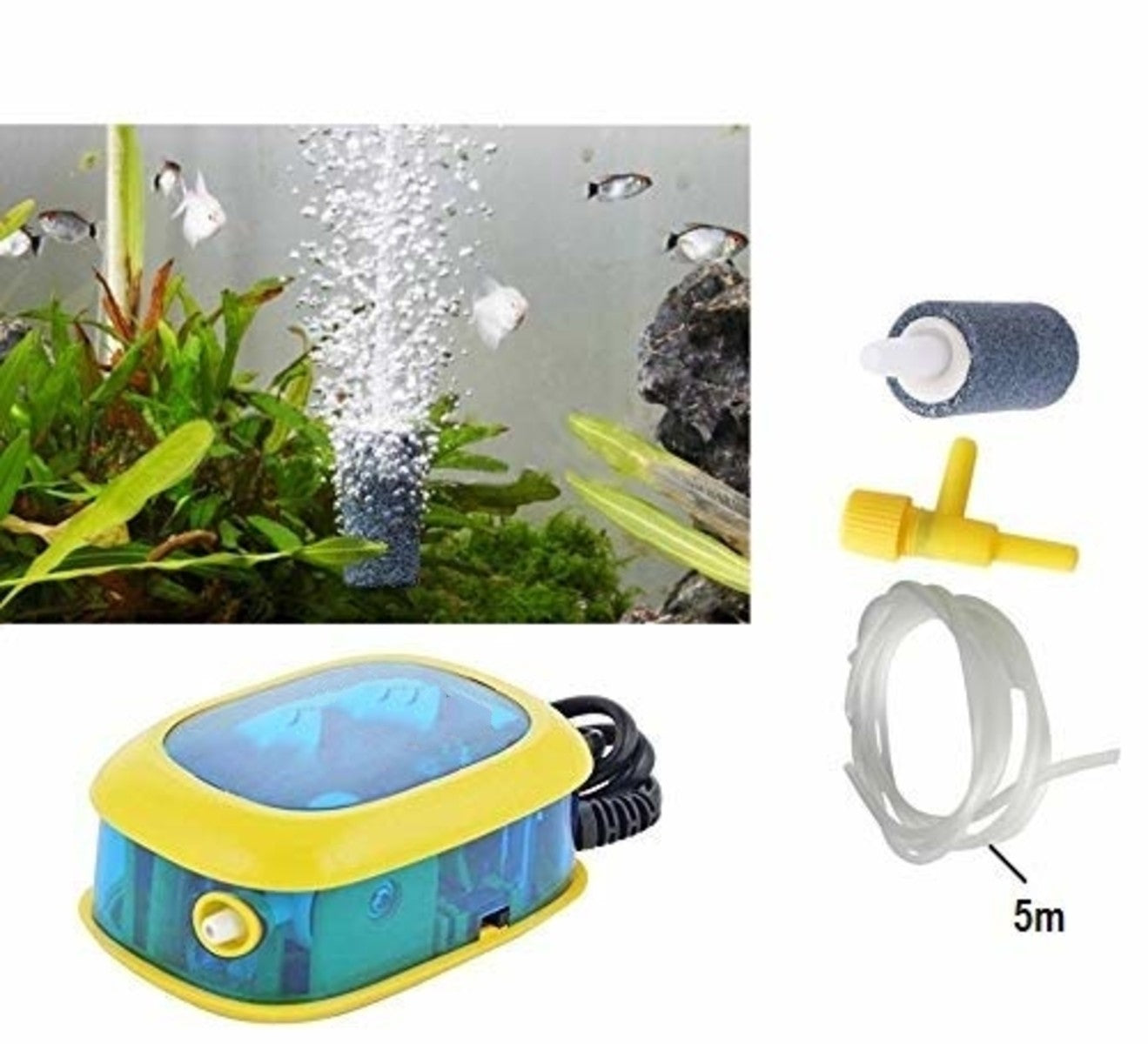 Sobo Aquarium Air Pump Power 3.5 W with Single Hole Fish Tank Oxygen Can Supports 2 Speed Control