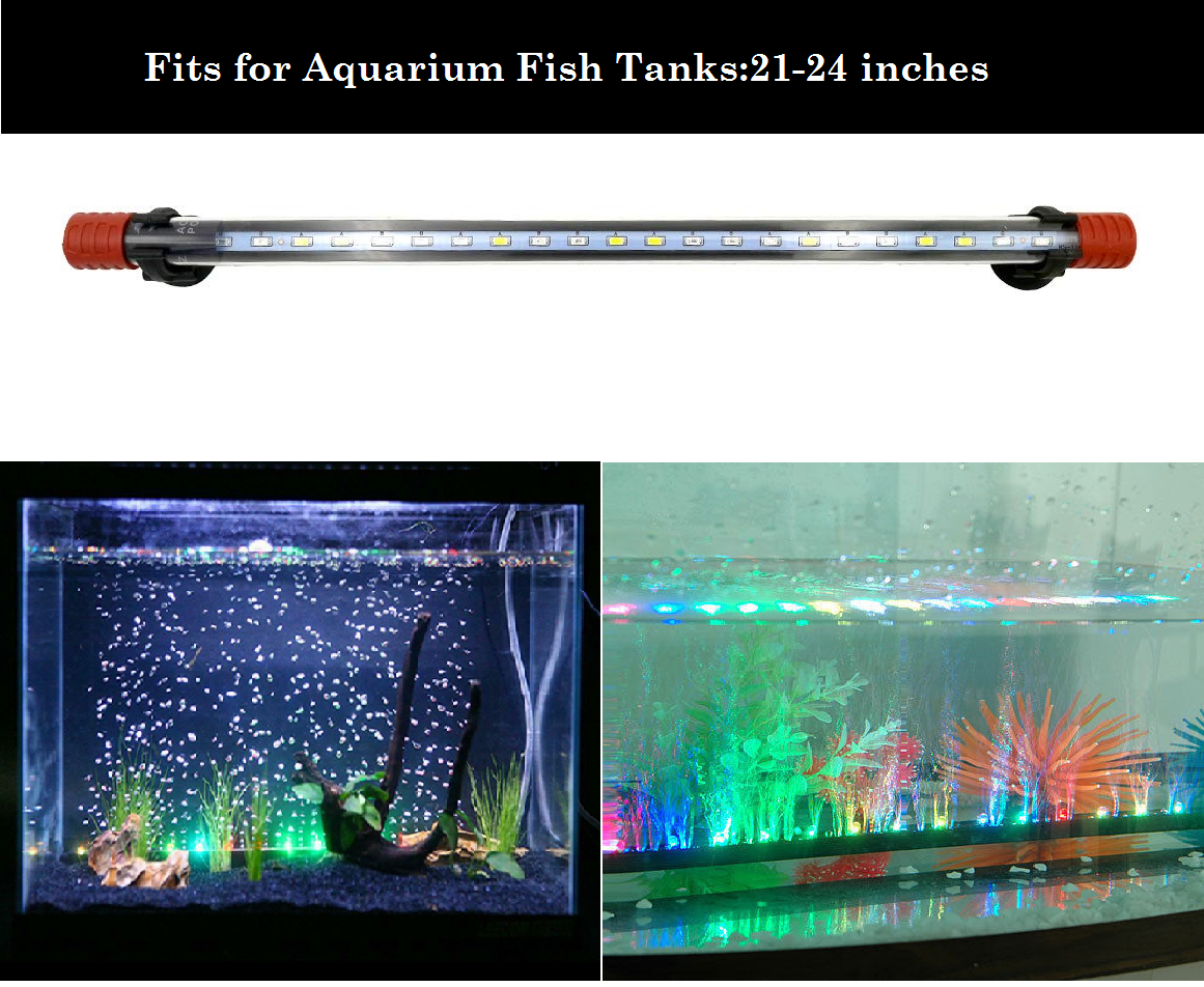 DESPACITO® Aquarium Led Lights for Fish Tank (21-24 inches), Lamp Lights (RS-500 LC) with 3 modes.