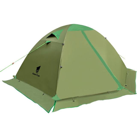Image of GeerTop 2 Person, 4 Season Waterproof Ultralight Double Layered Tent with Snow Skirt - NOVID Fit