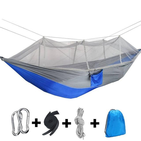 Image of 1-2 Person Portable Camping Hammock with Mosquito Net - NOVID Fit