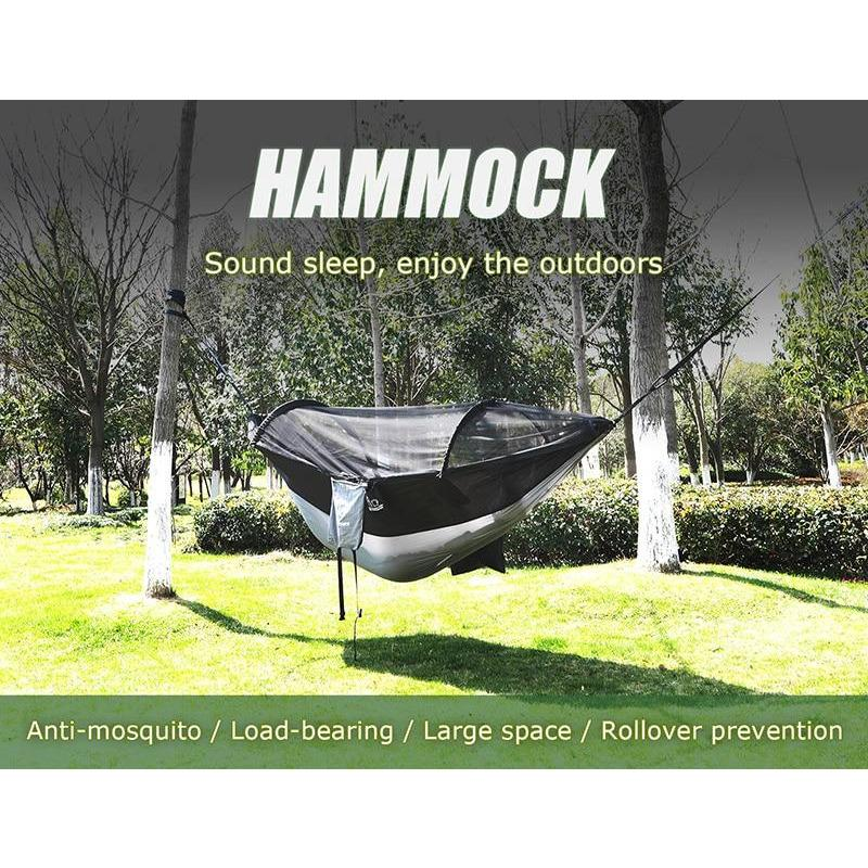 Hitorhike 1-2 Person Outdoor Mosquito Net Parachute-Hammock - NOVID Fit