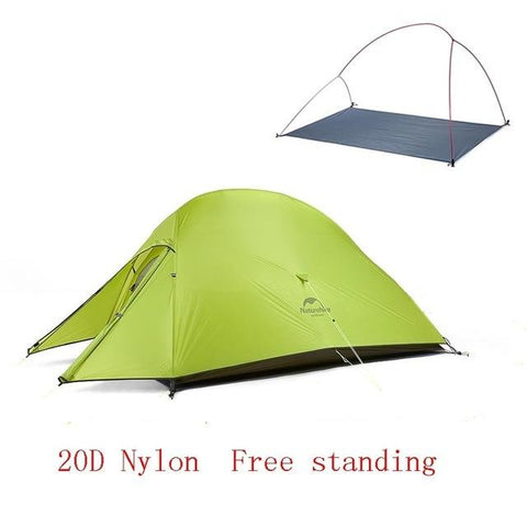 Image of Naturehike Cloud Up 2 Ultralight 20D Fabric Camping Tent For 2 People With Free Mat - NOVID Fit