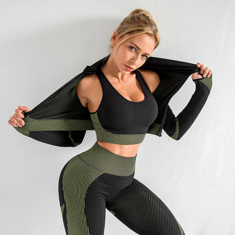 Image of NEW Women's Lightweight Two/Three Piece Sport Yoga Suit with Sports Bra - NOVID Fit