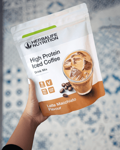 High Protein Iced Coffee- Latte Macchiatto