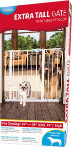 Extra Tall Walk-through Gate With Small Pet Door