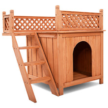 Load image into Gallery viewer, Outdoor Weather Resistant Wooden Puppy Pet Dog House