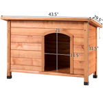 Outdoor Wood Weather Resistant Home Ground Dog House