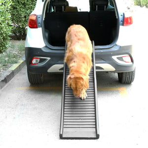 "61"" Folding Portable Lightweight Non-Slip Dog Cat Pet Ramp"