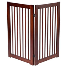 "Load image into Gallery viewer, 36"" Configurable Folding Wood Pet Dog Safety Fence"