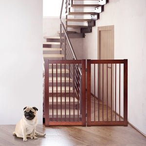 "36"" Configurable Folding Wood Pet Dog Safety Fence"
