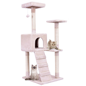 "52"" Tower Condo Furniture Scratching Ladder Cat Tree"
