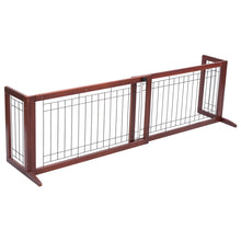 Load image into Gallery viewer, Solid Wood Adjustable Free Stand Dog Gate