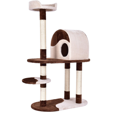 "48"" Kitten Activity Tower Cat Tree with Scratching Posts"