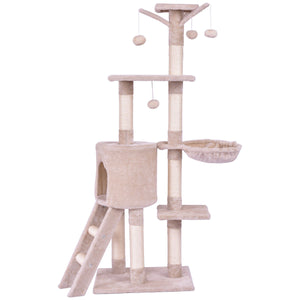 "56"" Condo Scratching Posts Ladder Cat Play Tree"