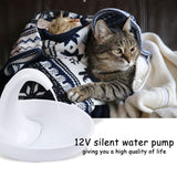 Swan Automatic Cat Water Fountain Drinking Bowl Device