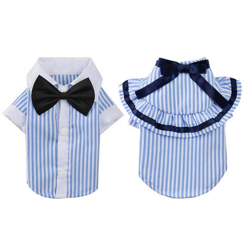 Dog Clothes for Male and Female Clothing Striped Sizes XS-XL