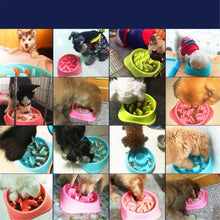 Load image into Gallery viewer, Dogs/Cats Bowls Feeders Anti-Choking For Pet Drinking /Eating Slow Feeder Container