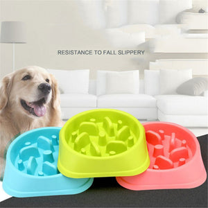 Dogs/Cats Bowls Feeders Anti-Choking For Pet Drinking /Eating Slow Feeder Container