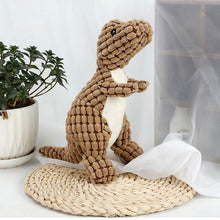 Load image into Gallery viewer, Dogs/Puppy Pet Dinosaur Shape Plush Chew Squeaky Toy Helps Clean Teeth