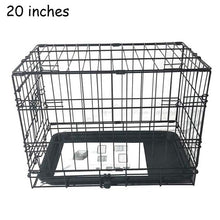 Load image into Gallery viewer, 20/24/42 inch Pet Kennel Cat/Dog Folding Steel Crate Animal Playpen Wire Cage